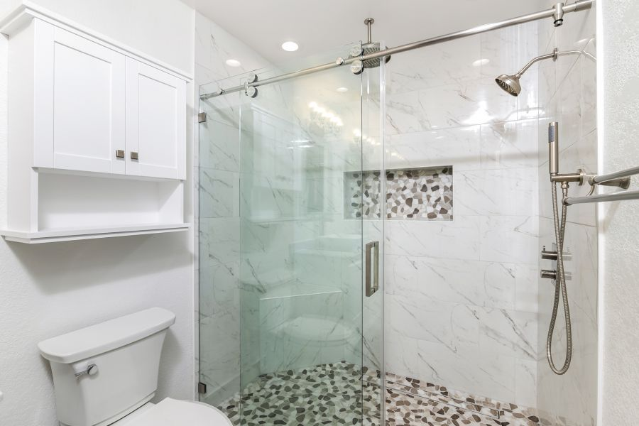new bathroom after a construction project