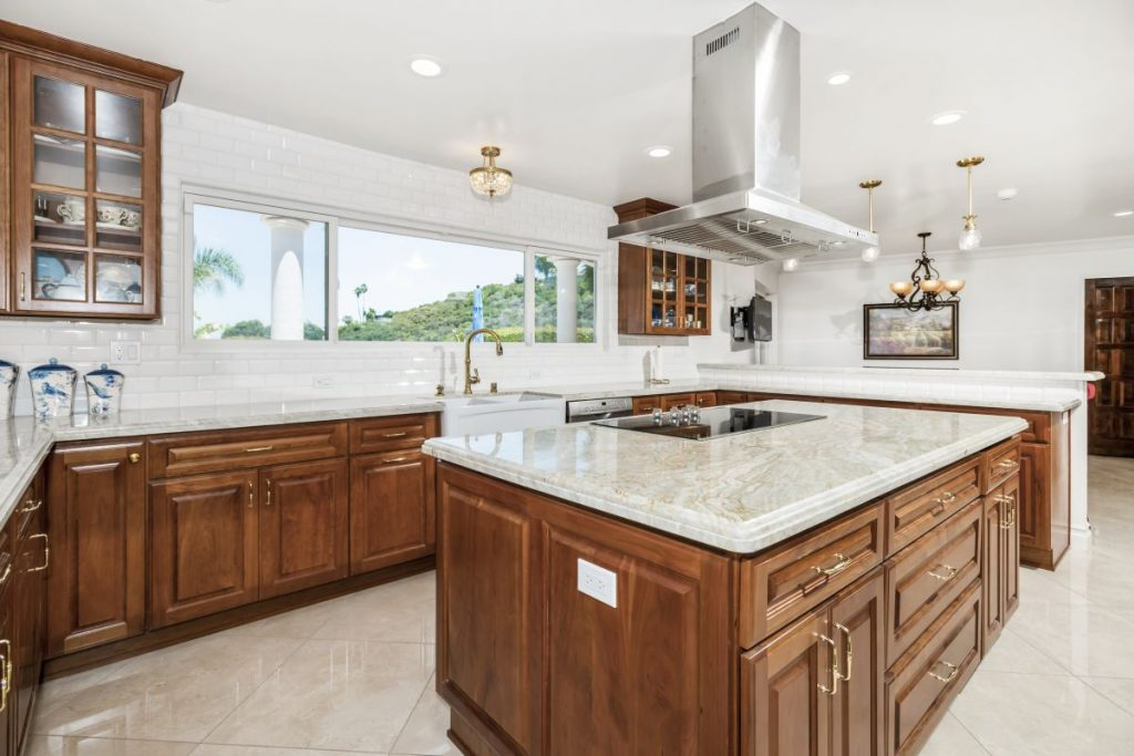 a new remodeled kitchen